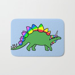 Stegocorn (Unicorn Stegosaurus) Bath Mat