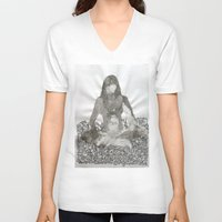 meditation V-neck T-shirts featuring Meditation by Condor