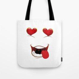 Male Lustful Heart Eyes Tote Bag