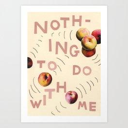 nice peaches Art Print