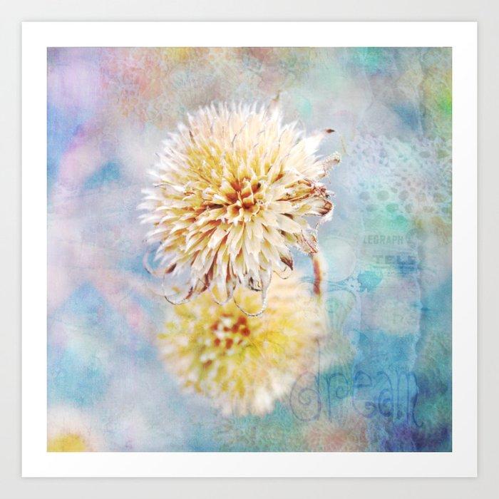 Dreamy Dried Flower Art Print