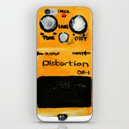 Guitar Distortion Pedal Acrylics On Paper (White Edit) iPhone Skin