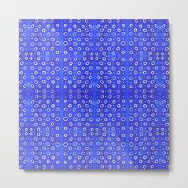 Vejigante Blue Circles Metal Print