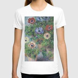 Claude Monet - Anemones In Pot T-shirt