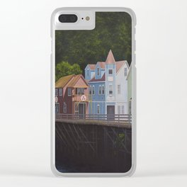 Ketchikan's Creek Street Clear iPhone Case