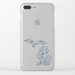 Michigan Up North Collage Clear iPhone Case
