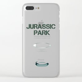 Jurassic Park - Alternative Movie Poster Clear iPhone Case