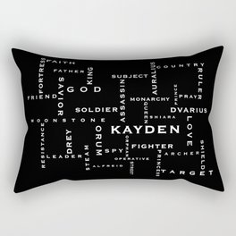 Order of the MoonStone Word Puzzle Rectangular Pillow