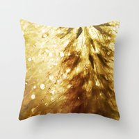 champagne Throw Pillows featuring Champagne by Rosemary Danielis