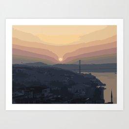 Bosphorus Bridge, Sunset Art Print