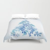 christmas tree Duvet Covers featuring Christmas Tree by MaNia Creations