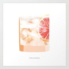 Cocktail Hour: Paloma Art Print