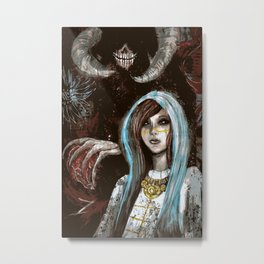 A Cautionary Tale for Young Deities Metal Print