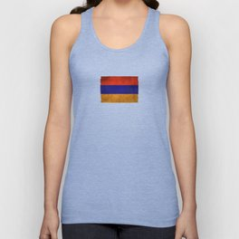 Old and Worn Distressed Vintage Flag of Armenia Unisex Tank Top