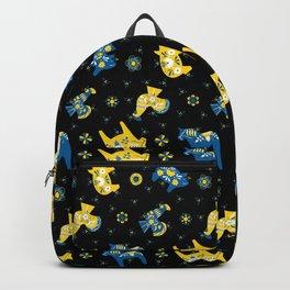 Blue Yellow - Swedish Dala Animals Backpack