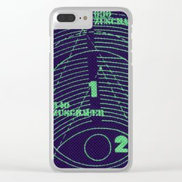 numeric Clear iPhone Case