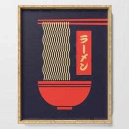 Ramen Japanese Food Noodle Bowl Chopsticks - Black Serving Tray