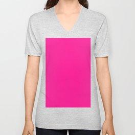 Deep Pink Unisex V-Neck