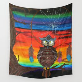 The Ancestor's Owl Wall Tapestry