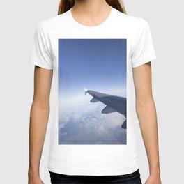 Heavenly Blue Skies Flying T-shirt