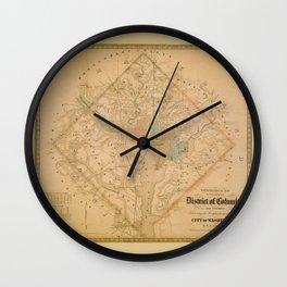 Civil War Washington D.C. Map Wall Clock