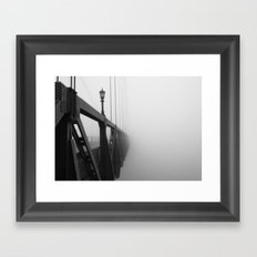 St Johns Bridge in Fog 3, Portland, Oregon Framed Art Print
