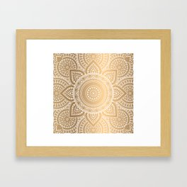 Gold Mandala 3 Framed Art Print