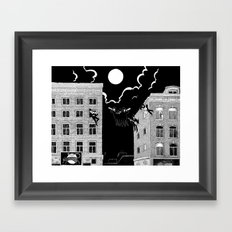 sounds of the night Framed Art Print