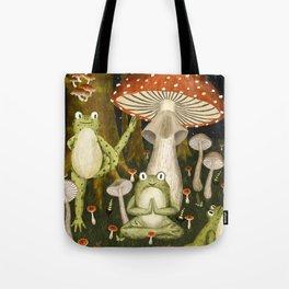 mushroom forest yoga Tote Bag
