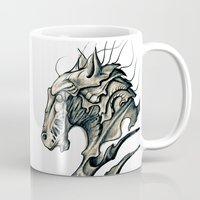 horse Mugs featuring Horse by Nuam