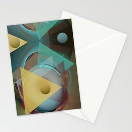 Modern colourful abstract with triangles Stationery Cards