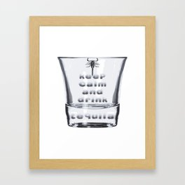 Blurred Vision Keep Calm And Drink Tequila Shots Framed Art Print