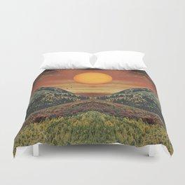 Sunset vibes Duvet Cover