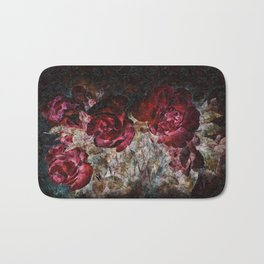 Red roses grunge Bath Mat