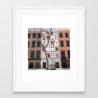 house of cards Framed Art Prints featuring House of Cards by AdamSteve