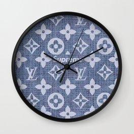 supreme lv grey Wall Clock