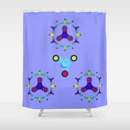 Fidget Spinner Design version 3 Shower Curtain