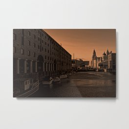Albert Dock And the Pier Head Metal Print