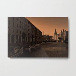 Albert Dock And the Pier Head Metal Print