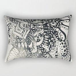 Flashlight Shadow Rectangular Pillow