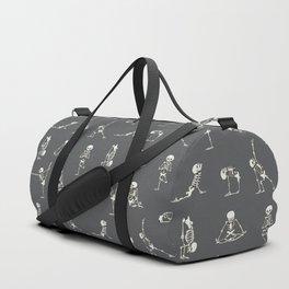 Skeleton Yoga_Gray Duffle Bag