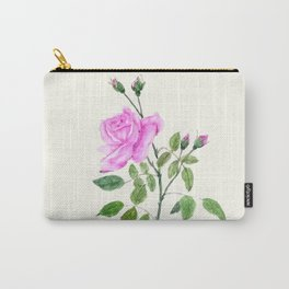 pink rose watercolor painting Carry-All Pouch