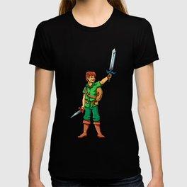 Warrior elf green cartoon illustration T-shirt