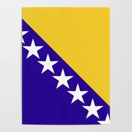 Bosnia and Herzegovina flag emblem Poster