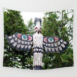 Alaskan Totem - Eagle Wall Tapestry