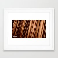 vinyl Framed Art Prints featuring Vinyl. by Derek Fleener
