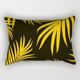 Palm Leaves Pattern Yellow Vibes #1 #tropical #decor #art #society6 Rectangular Pillow