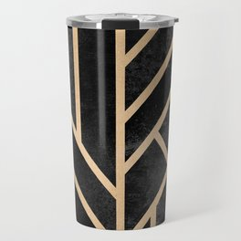 Art Deco Black Travel Mug