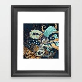 Metallic Octopus II Framed Art Print