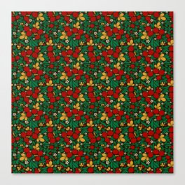 Strawberry pattern in traditional russian style hohloma khohloma Canvas Print